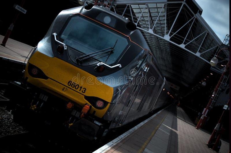 在伦敦马里波恩铁路Staion的火车 免版税库存图片