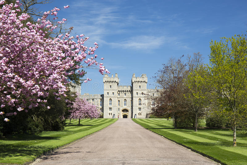 在伦敦,英国附近的温莎城堡 免版税库存照片