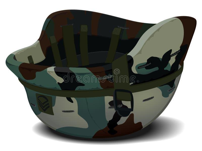 在伪装的军事盔甲 库存例证