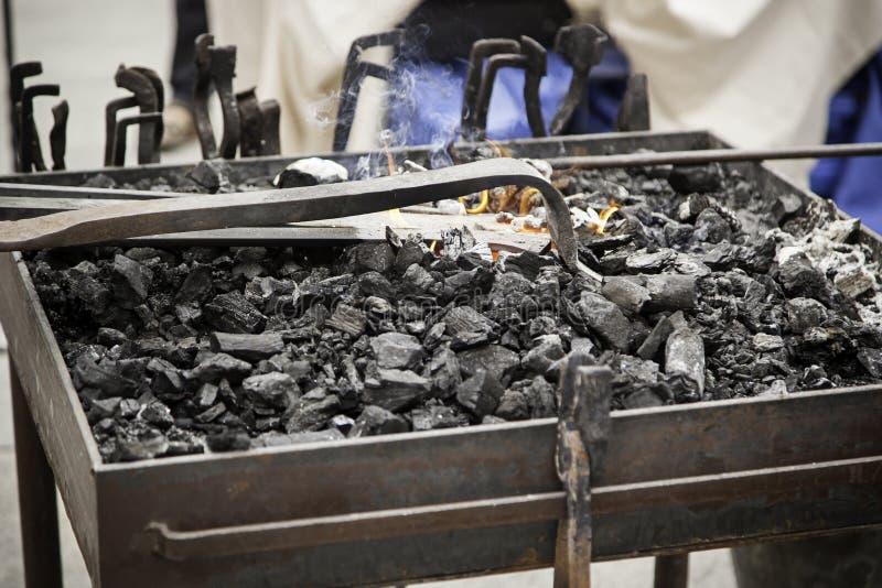 在伪造的炭烬 免版税图库摄影