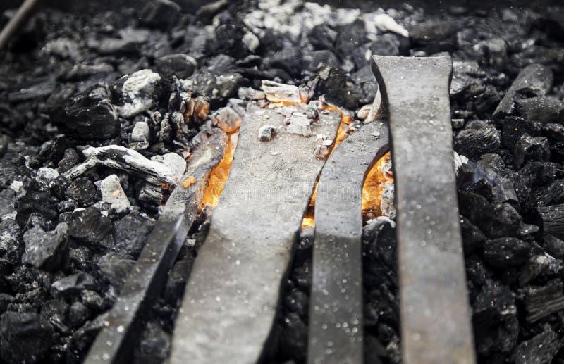 在伪造的炭烬 免版税库存图片