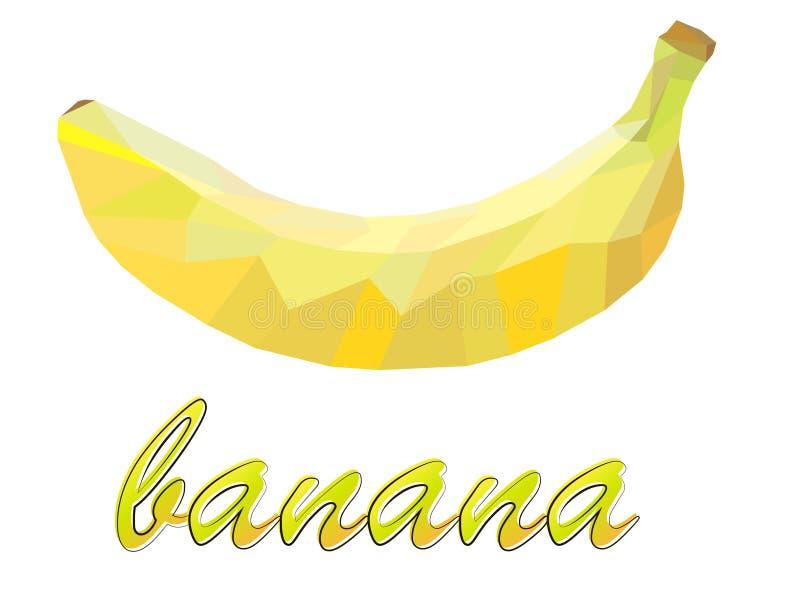 在低多样式画的一个几何香蕉 库存图片