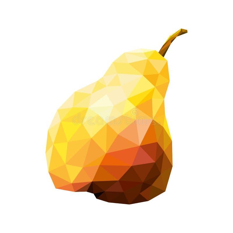 在低多样式绘的黄色梨 水多的甜果子 : 皇族释放例证