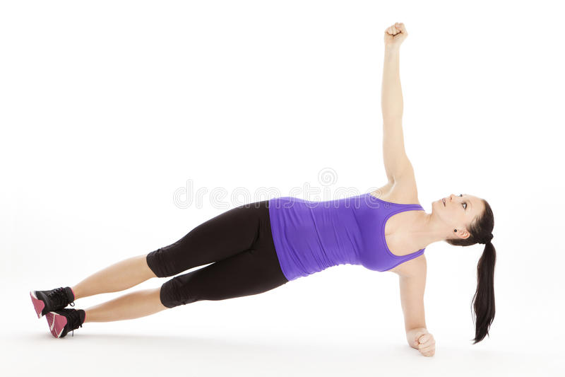 健身房的运动的妇女 图库摄影