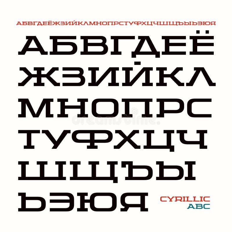 在体育样式的细体字体 库存例证