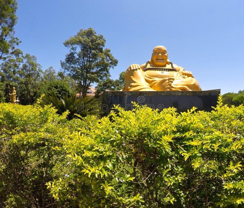 在佛教寺庙的和平 免版税库存图片