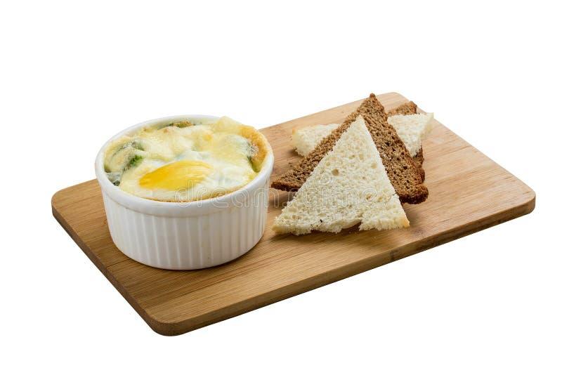 在佛罗伦丁的样式的鸡蛋 免版税库存照片