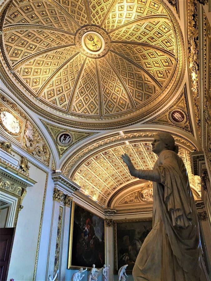 在佛罗伦萨、艺术和历史的乌菲齐画廊 免版税库存照片