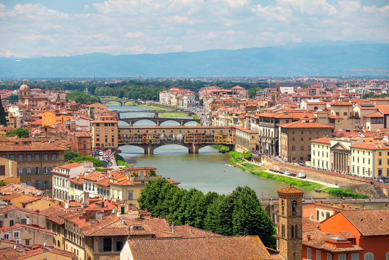 在佛罗伦萨之上 免版税库存图片