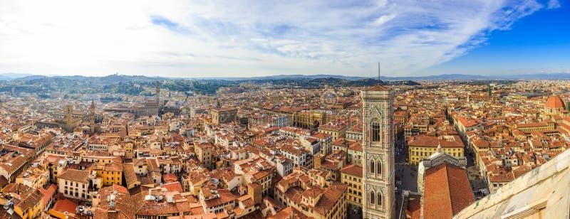 在佛罗伦萨的全景视图 免版税库存照片