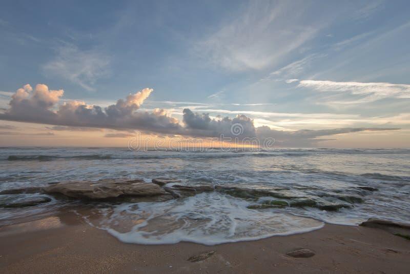 在佛罗里达海洋海岸的日出 库存照片