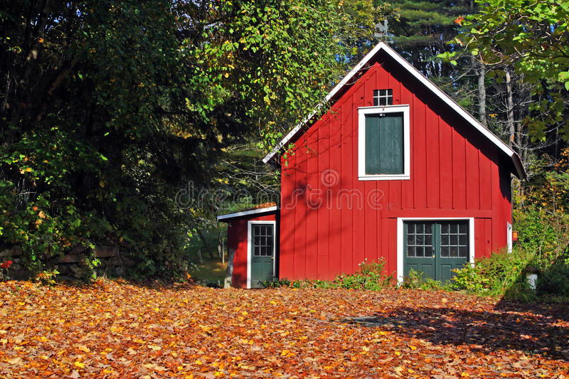 在佛蒙特,美国的秋叶 免版税库存照片