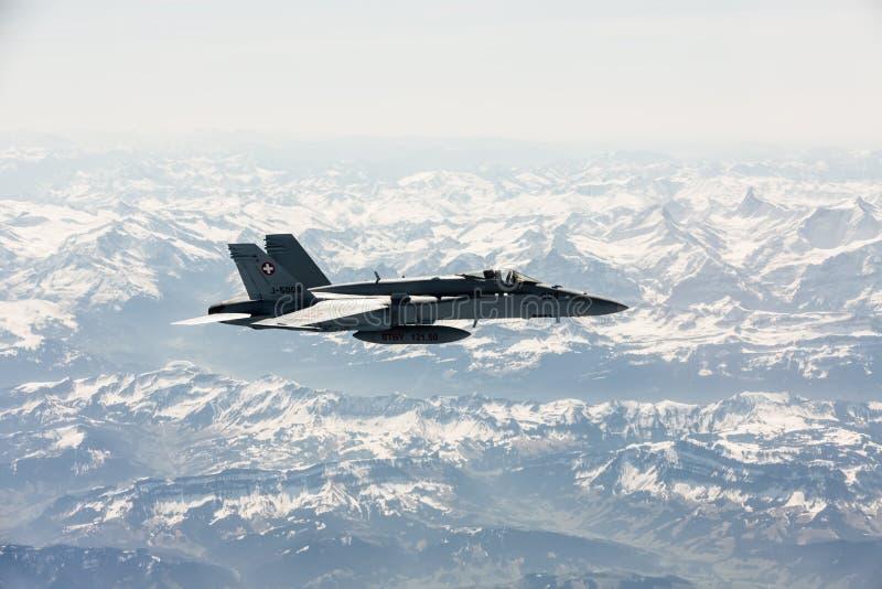 在作战义务的喷气式歼击机 免版税图库摄影