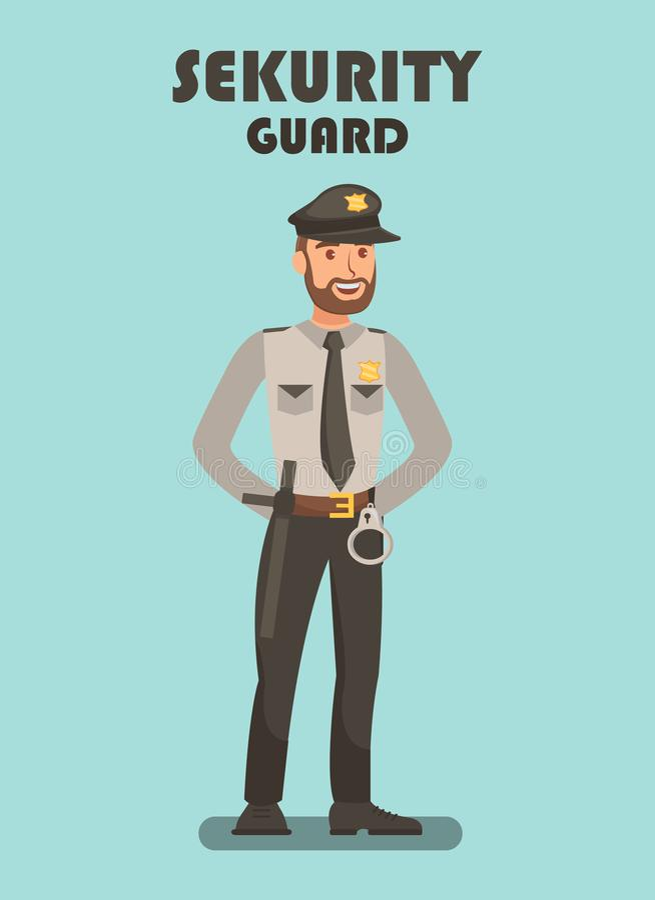 在使命传染媒介海报模板的保安 皇族释放例证
