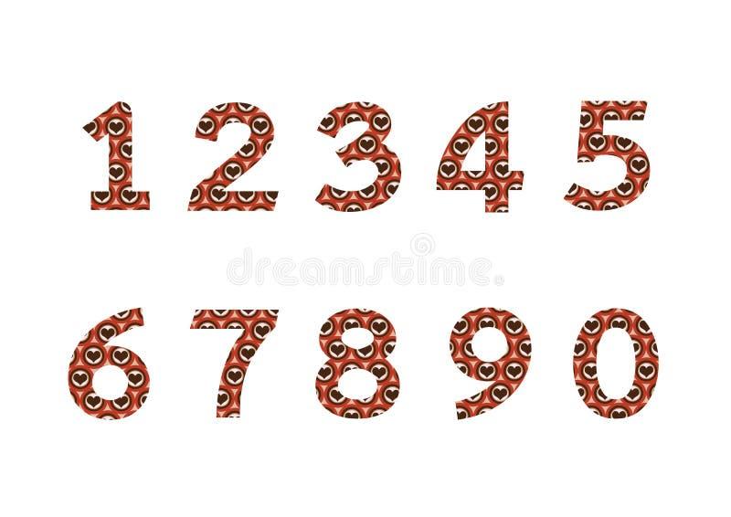 在例证设置的数字,抽象数 向量例证