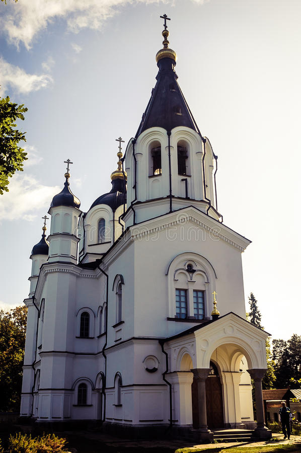 在俄罗斯的北部的寺庙 库存图片