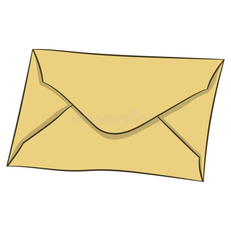在信封的信件 也corel凹道例证向量 用手画 皇族释放例证