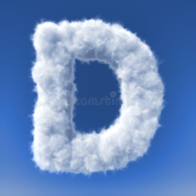 在信件的形状的云彩 库存例证