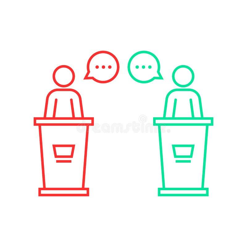 在候选人之间的辩论 库存例证