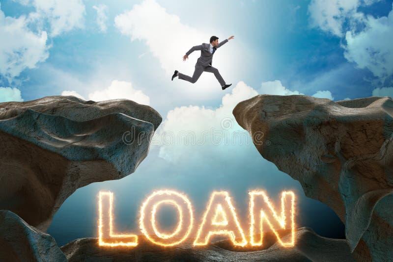 在债务和贷款概念的商人 免版税库存照片