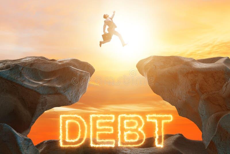 在债务和贷款概念的商人 库存照片