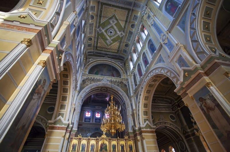在假定大教堂里面在哈尔科夫 库存图片