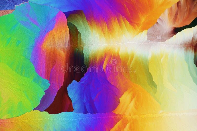在偏光的五颜六色的微水晶 库存图片