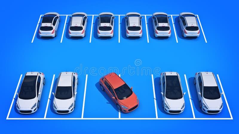 在停车处的坏司机 库存例证