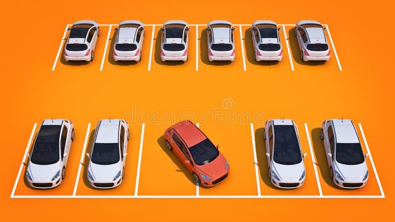 在停车处的坏司机 皇族释放例证