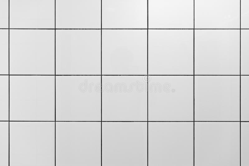 在健身房阵雨的白色墙壁瓦片 最小的设计 库存照片