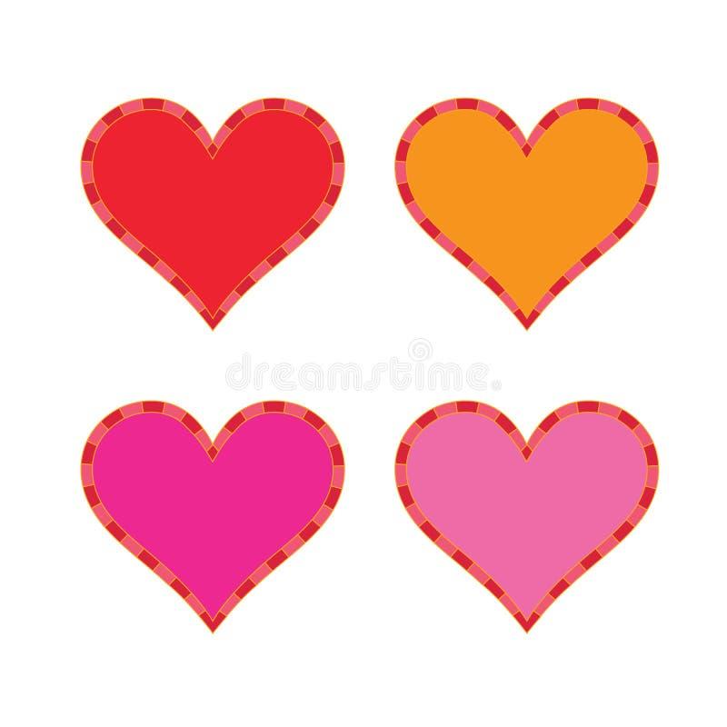 在充分的显示的心脏 免版税库存照片
