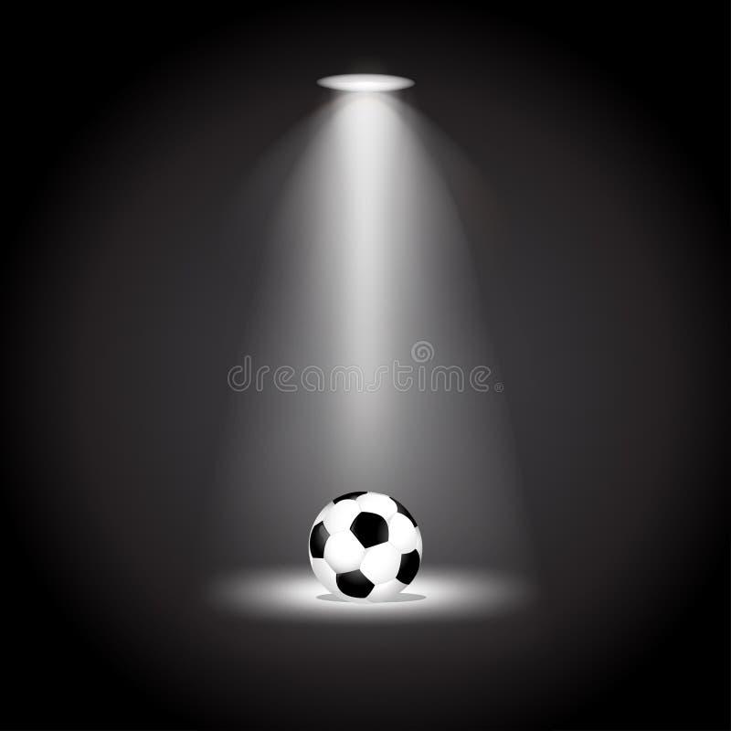 在光传染媒介例证下的足球 皇族释放例证