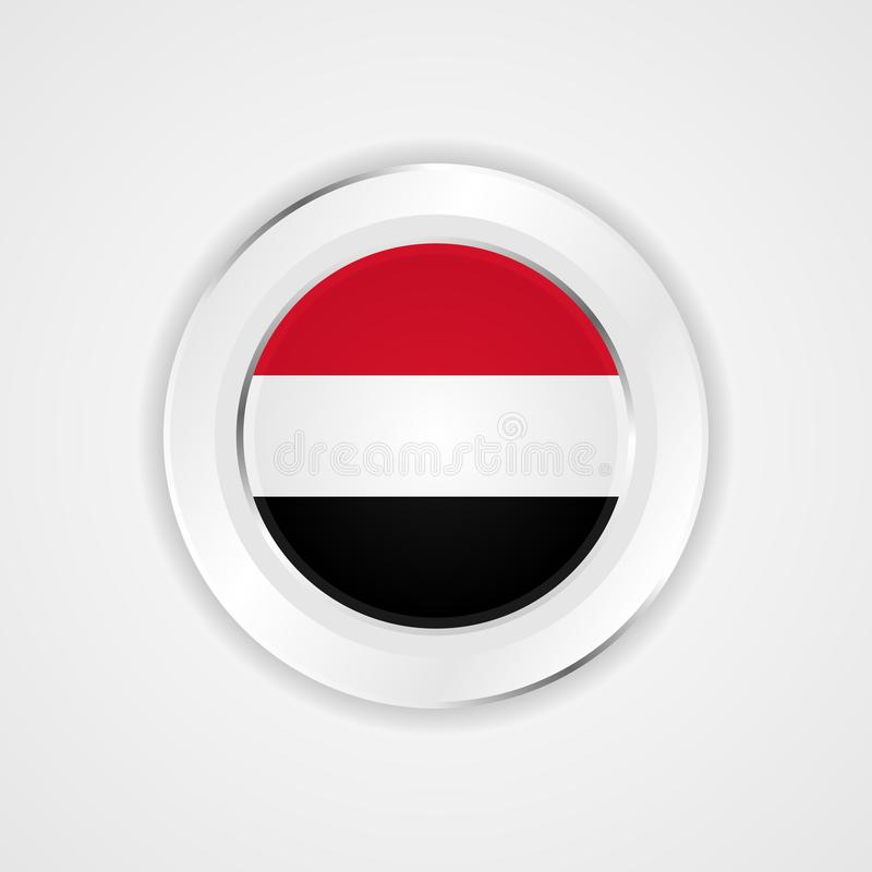 在光滑的象的也门旗子 库存例证