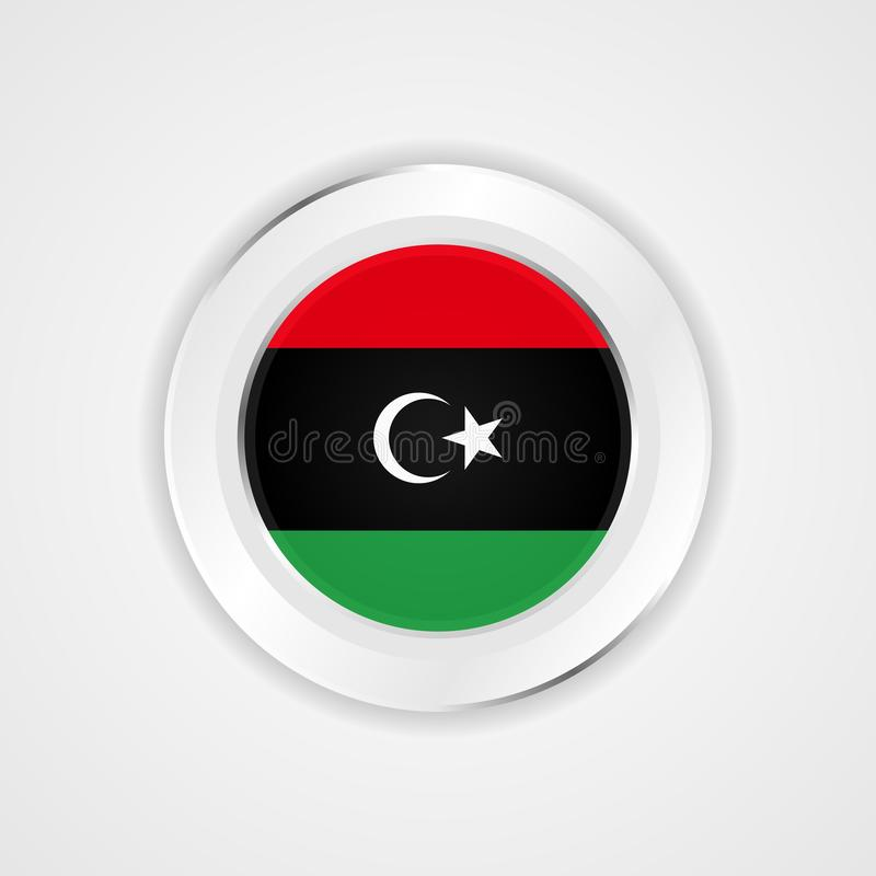 在光滑的象的利比亚旗子 皇族释放例证