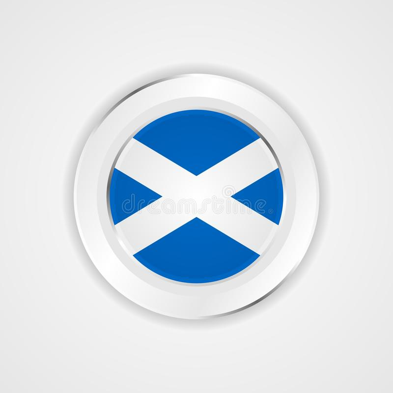 在光滑的象的苏格兰旗子 库存例证