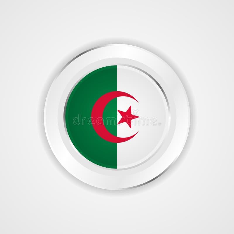 在光滑的象的阿尔及利亚旗子 皇族释放例证