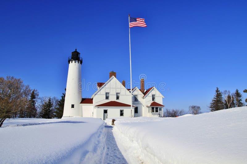 在光的冬天 免版税库存照片