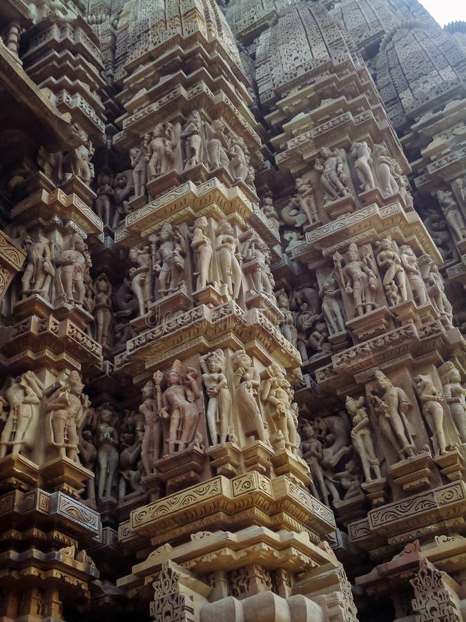 在克久拉霍的寺庙在印度 免版税图库摄影