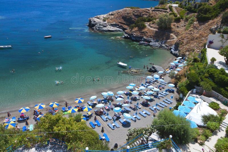 在克利特海岛的风景海滩在希腊 库存图片