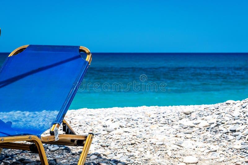 在克利特的海洋海滩 免版税库存图片