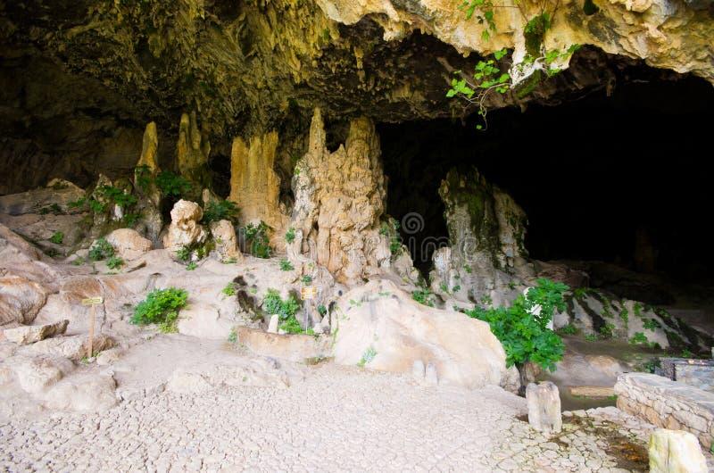 在克利特,希腊的Agia索非亚洞 图库摄影