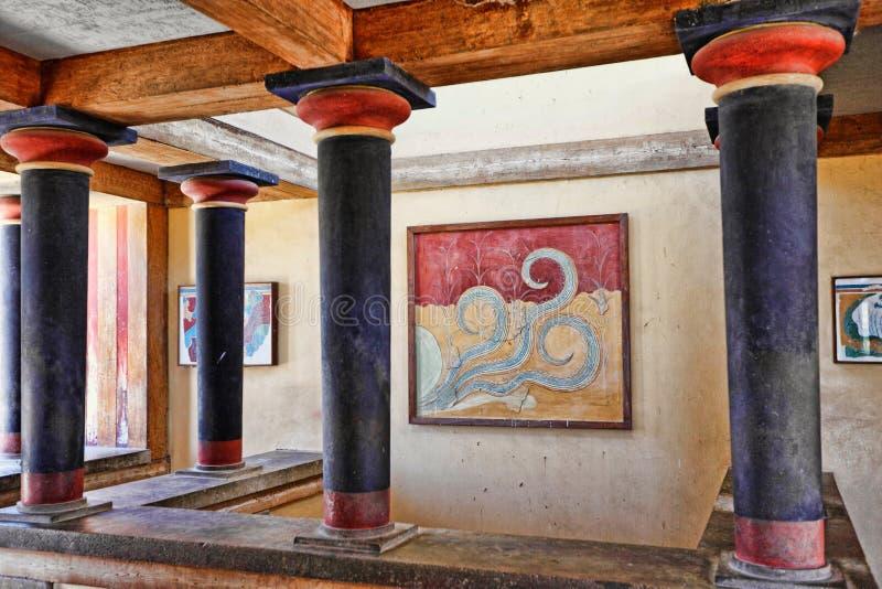 在克利特,希腊的Knossos 免版税库存图片