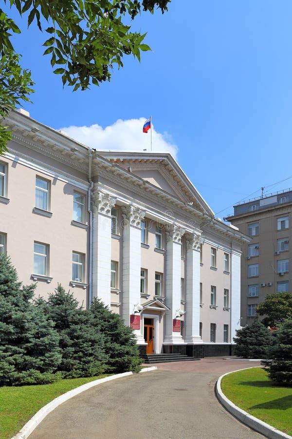 在克拉斯诺达尔修建俄罗斯总统代表处 库存图片