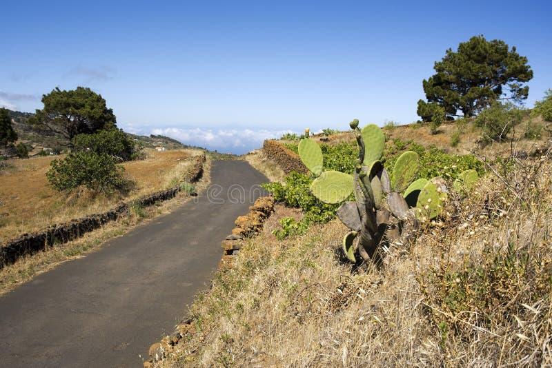 在克洛el农村hiero的路之上 免版税库存照片