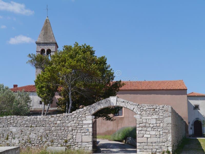在克罗地亚海岛Pasman上的Kraj 库存照片