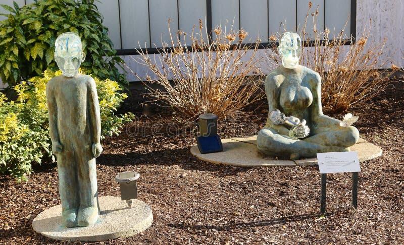 在克莱斯勒艺术馆的石和玻璃艺术形象 库存照片