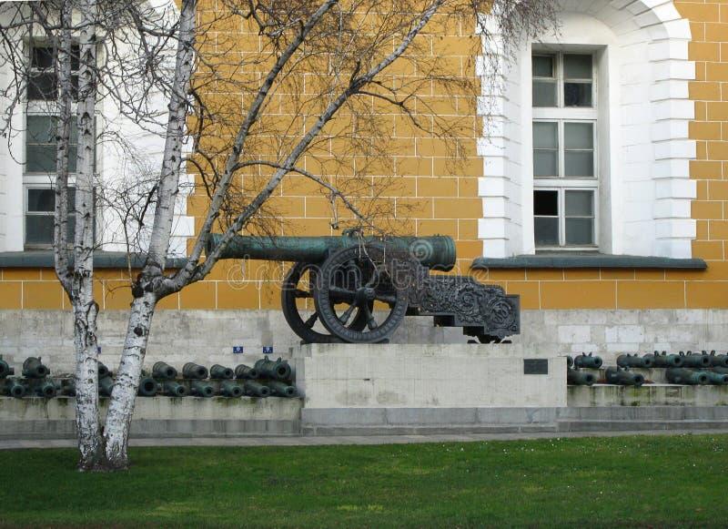 在克里姆林宫在红场,莫斯科俄罗斯里面的教规 图库摄影
