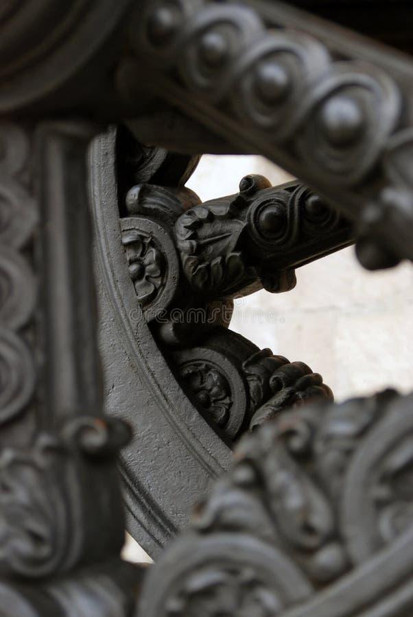 在克里姆林宫显示的老大炮 彩色照片 库存照片