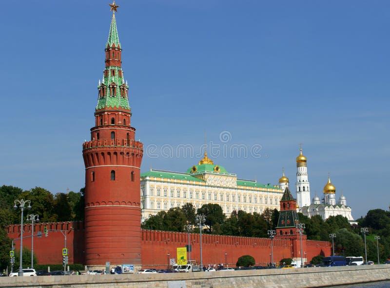 在克里姆林宫的Vodovzvodnaya塔 库存照片