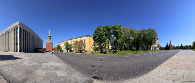 在克里姆林宫里面,俄罗斯天 地区莫斯科一幅全景 库存照片